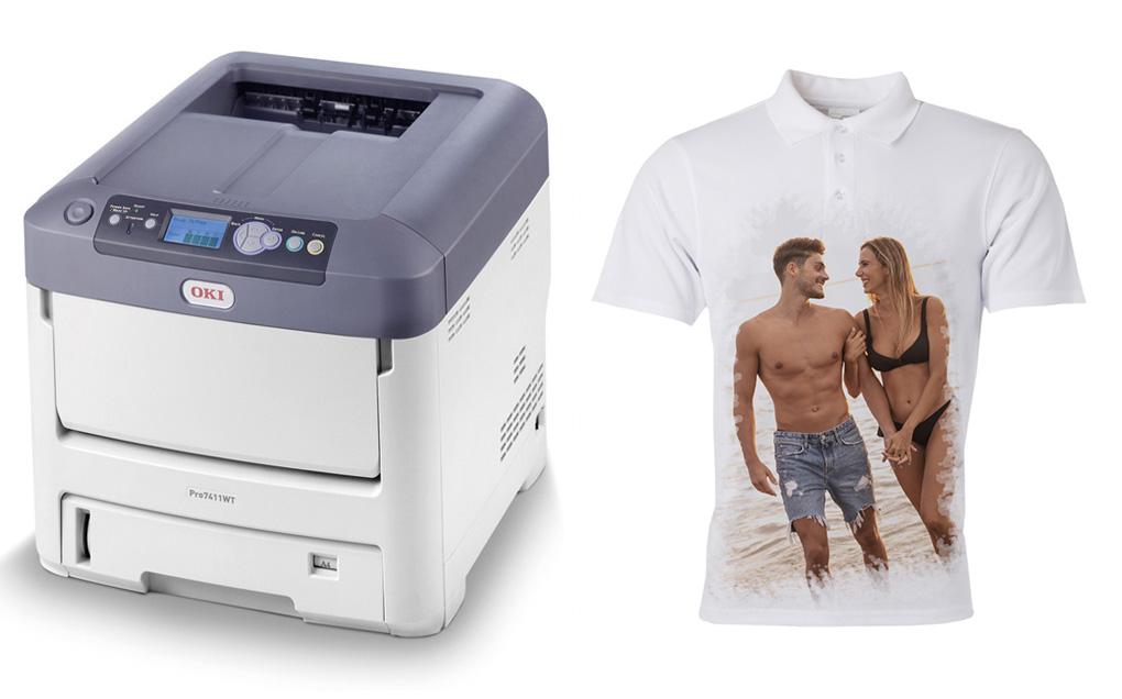 Test stampante OKI PRO7411WT con toner bianco